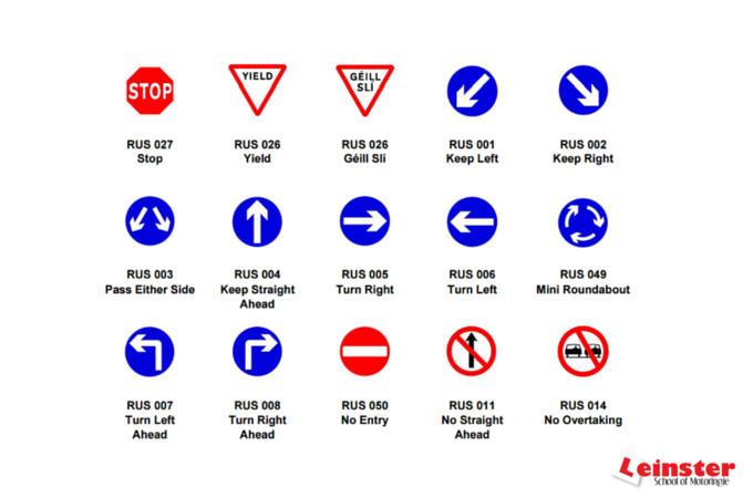 traffic signs | driving school resources